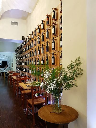 Restaurant ıtalian Restaurant Wine Bottles Bottles Wall Winery Wines Italian Wines Freshness Interior Design In Bloom At Restaurant Travel Destination Good Food Good Mood