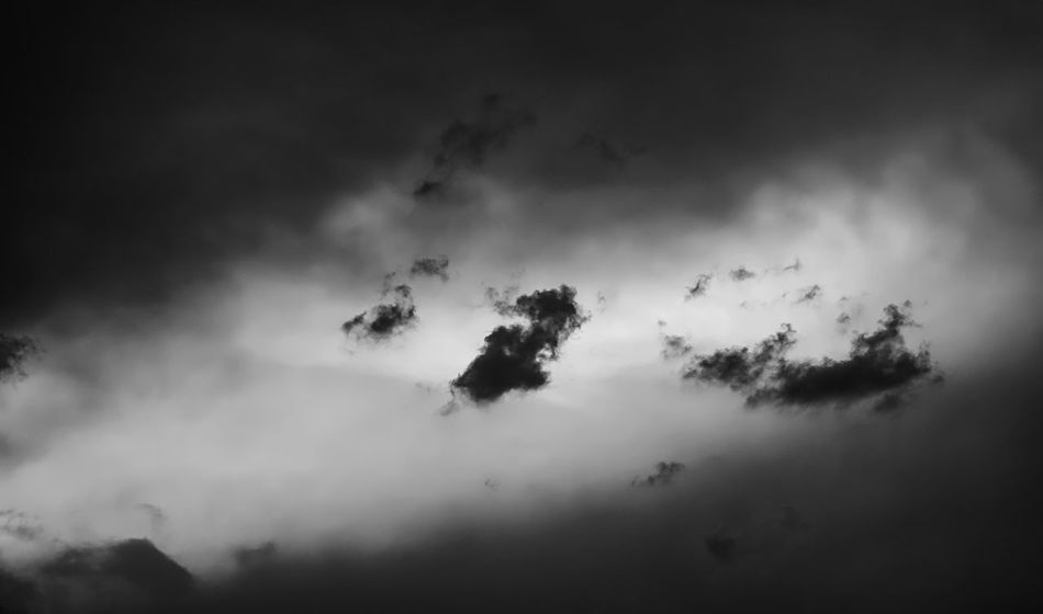 Dramatic Sky Beauty In Nature Black And White Cloud - Sky Dark Day Environment Hell Und Dunkel Idyllic Low Angle View Meteorology Nature No People Non-urban Scene Outdoors Scenics - Nature Silhouette Sky Smoke - Physical Structure Storm Tranquil Scene Tranquility