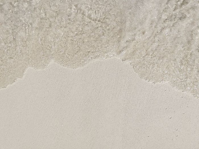 High angle view of sand on beach
