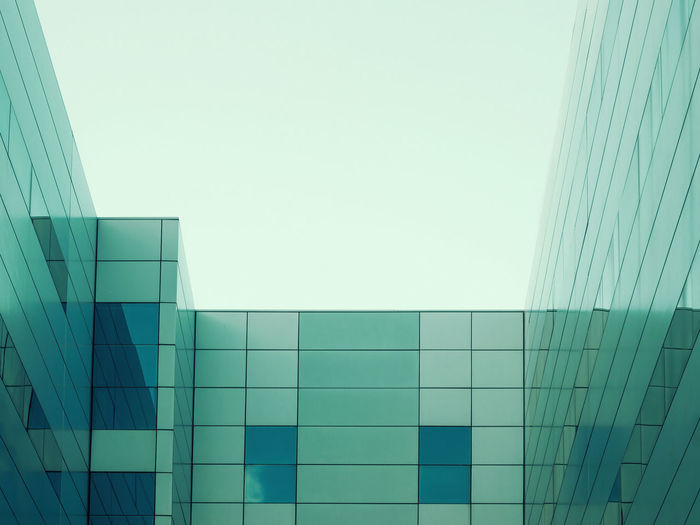 Abstract architecture Abstract Architecture Building Exterior Built Structure City Clear Sky Facades Modern No People Taking Photos