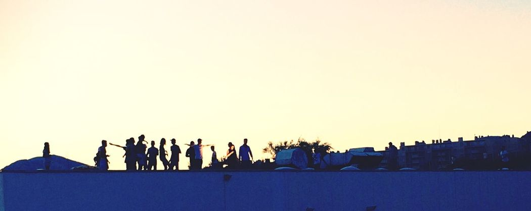 Party Time! Sunrise Rooftop Early Morning Crazy Night People