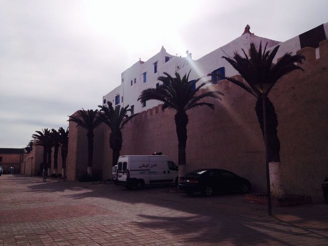 Sky Car Land Vehicle Tree Street Transportation No People Outdoors Palm Tree Day Building Exterior Architecture Morocco Essaouira
