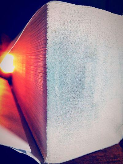 Detail shot of open book