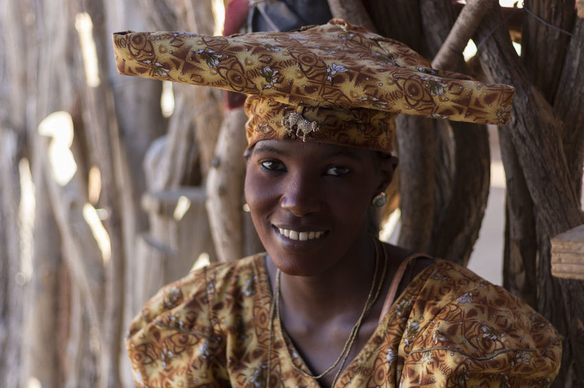 Herero Tribe Namibia Namibia Tribe Close-up Day Happiness Headshot Herero Looking At Camera One Person Outdoors People Portrait Real People Smiling Young Adult Young Women