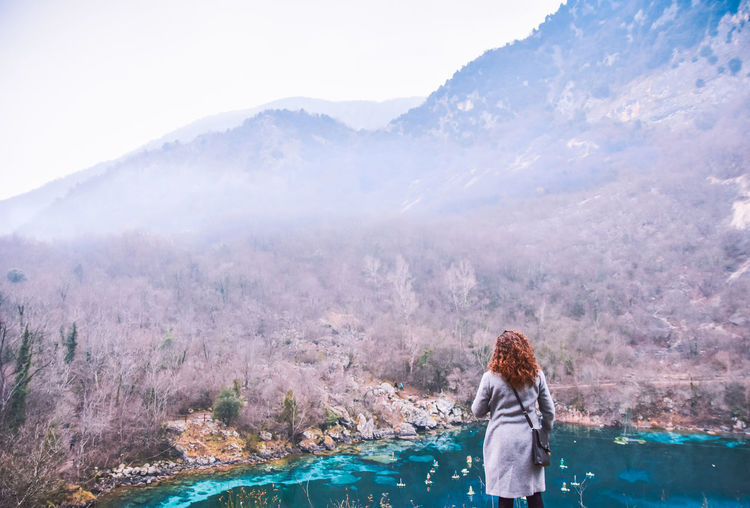 Beautiful Nature Colours Nature Pond Winter Woman Wood Beautiful Place Colours Of Nature Day Fog Foggy Forest Italy Lake Landscape Looking At Nature Mountain Mountain Range person Red Hair River Watching Nature