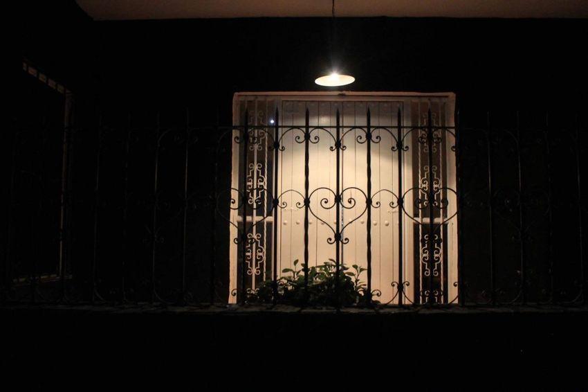 Door Illuminated Night Indoors