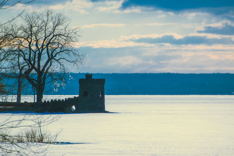 Canada Coast To Coast Winter Winter Wonderland Cold Temperature Cold Winter Time Wintertime Winterwonderland Nature Sky Cloud - Sky Tree Architecture Built Structure Tranquil Scene Tranquility Bare Tree Beauty In Nature Scenics - Nature No People Plant Land History The Past Snow Water Outdoors Tower