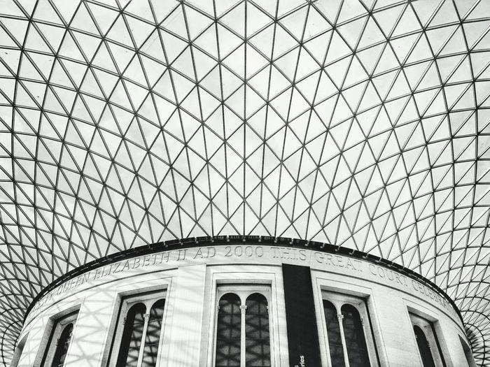 The web The Architect - 2016 EyeEm Awards London British Museum, England United Kingdom Web Main Hall Symmetry Architecture Travel Museum Ceiling Glass Monocrhome