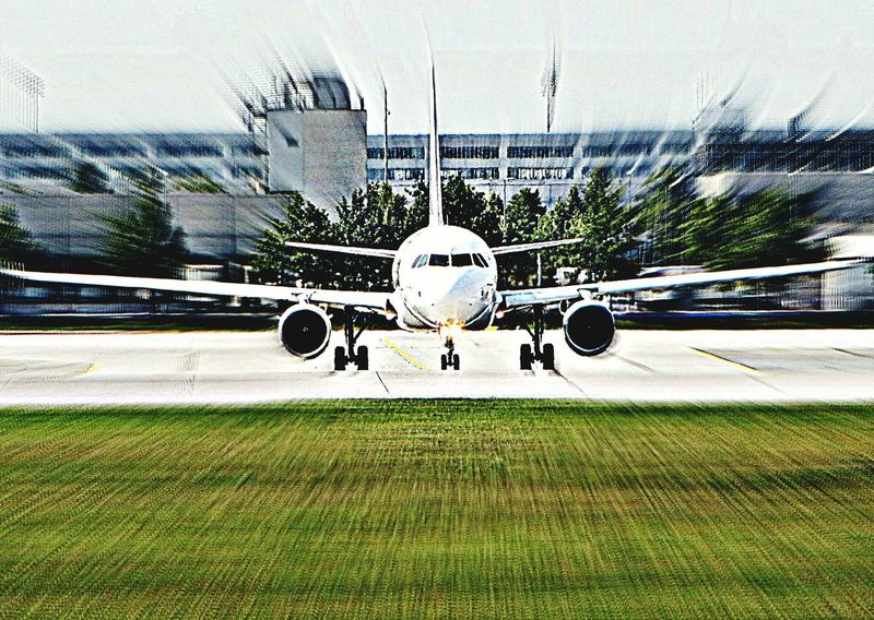 Munich Airport Airplane Airbus EyeEm Best Shots At The Airport Flying ..just Before Take Off..