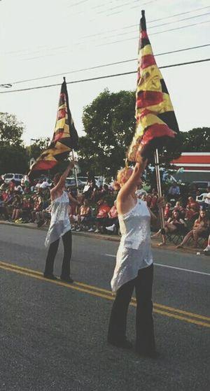 Colorguard Parade Harvest Home Parade Flags