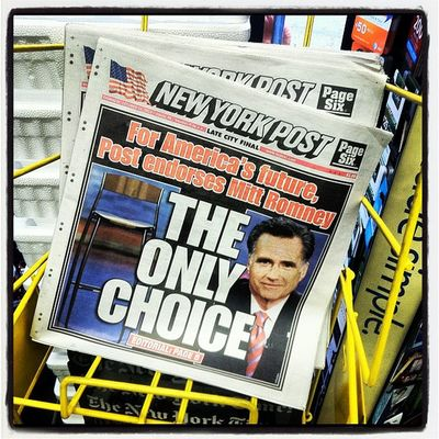 The only choice, except for the other choice #math #nypost #romney Math Romney Nypost