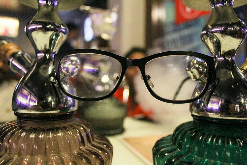 Hookah with the cool kids.. Hookah Indoors  Laidback EyeEm Best Shots My Experiences Cool Kids Eyeglasses  Transparent Glass - Material Close-up Still Life Eyesight Reflection Spectacles Focus On Foreground Glasses Vision Surface Level Dramatic Angles