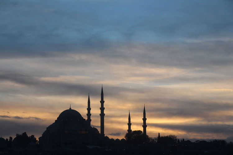 Low Angle View Of Hagia Sophia Against Cloudy Sky