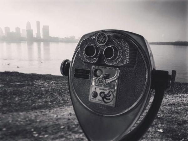 Louisville Louisville, Kentucky Ohio River Lookout Blackandwhite Black And White Black & White City Fog Foggy