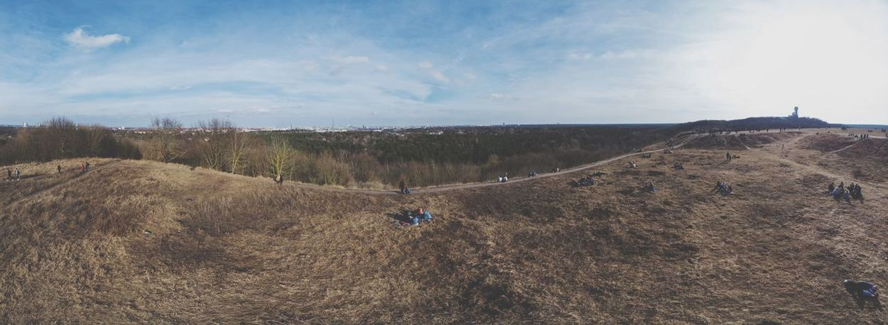 Panoramic view of Berlin and Teufelsberg Berliner Ansichten Berlin Drone  Panoramic Photography Panorama Nature Sky Cloud - Sky Day Landscape Tranquility Tranquil Scene Adventure Scenics Outdoors Beauty In Nature Mountain
