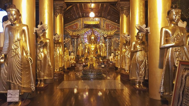 Travel DestinationsTravel Gold Colored Indoors  No People Religion Statue Myanmar Buddhism Believe Peaceful Travel Photography Traveling