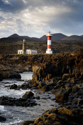 La Palma Lighthouse Lighthouse Rock Sky Tower Architecture Water Nature Sea No People Coast Coastline