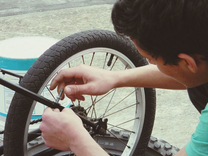 EyeEm Selects Tire Pedal Human Hand Bicycle Wheel Men Holding Close-up