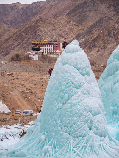 ice stupa team climbing on artificial glacier ice stupa Ice Stupa Artificial Glacier Winterinladakh Himalayan Idea Climbing Ice Wintertime Action Adventure Ice Climbing Cone Freezing Cold Aerial View Extreme Terrain Landscape Outdoors Desert Travel Snow Sand Day Mountain Travel Destinations Vacations Physical Geography Nature Arid Climate Scenics Adventure People Go Higher The Photojournalist - 2018 EyeEm Awards The Creative - 2018 EyeEm Awards The Still Life Photographer - 2018 EyeEm Awards The Great Outdoors - 2018 EyeEm Awards