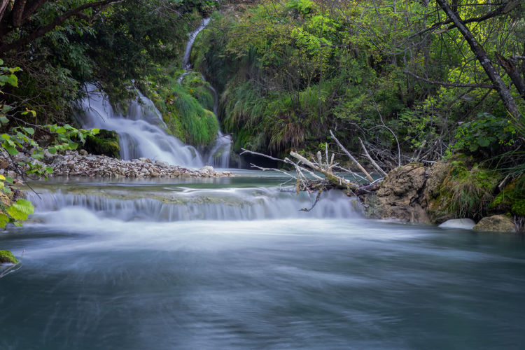 Water Long Exposure Tree Scenics - Nature Waterfall Forest Flowing Water Beauty In Nature Motion Plant Blurred Motion Nature Environment No People River Land Flowing Rock Outdoors Power In Nature Falling Water Running Water Tranquil Scene Tranquility Plitvice Lakes National Park
