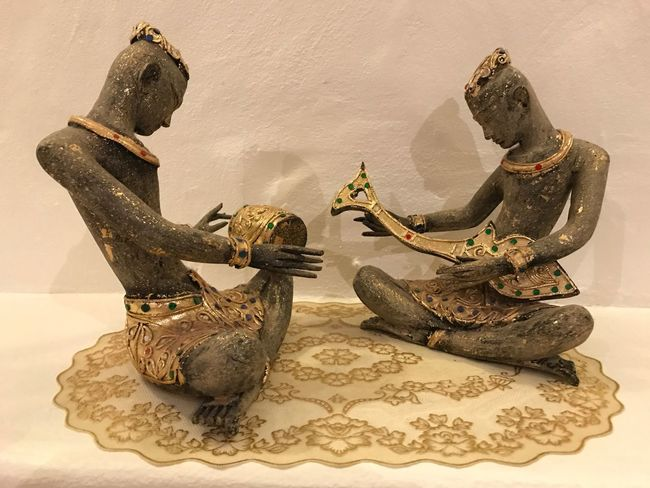 EyeEm Selects Couples Thai cultural wood toys play music instrument. No People Sculpture Statue Indoors  Animal Themes Day Mammal Close-up Thai Culture Music Instruments Songs Wood - Material Sculpture Traditional Culture Propaganda Home Decor Decoration Decorative