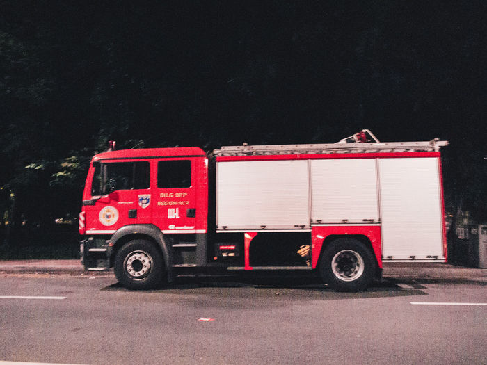 Fire stuck Red Night Accidents And Disasters Outdoors Fire Engine Land Vehicle No People Semi-truck Olympus EyeEmNewHere OLYMPUS PEN E-P3