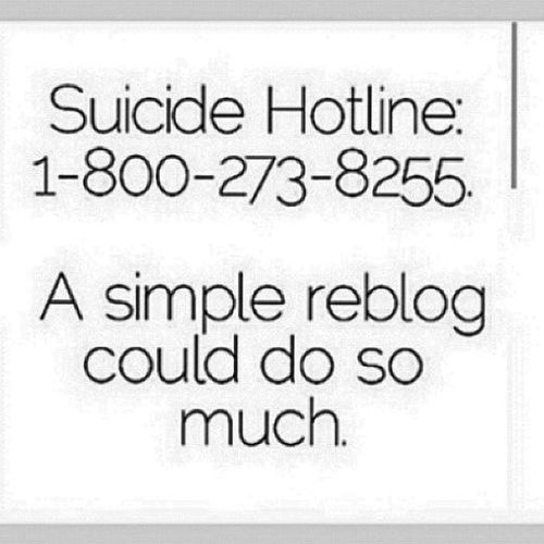 Not sure if this applies for people either in america or the uk :p but if you are feeling suicidal please seek help :/ . Just thought id upload this just incase or to raise awareness at least Suicide Suicideawareness Suicidehotline Help cut bleed selfharmmm secretsociety_123 justincase dep deb sue ana ed ednos reblog insta f4f followforfollow follow4follow