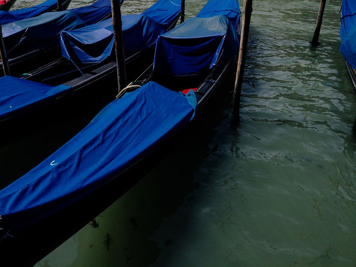 Venice, Italy Canal Day Gondola Gondola - Traditional Boat Longtail Boat Mode Of Transport Moored Nature Nautical Vessel No People Outdoors Transportation Venice Water Wooden Post