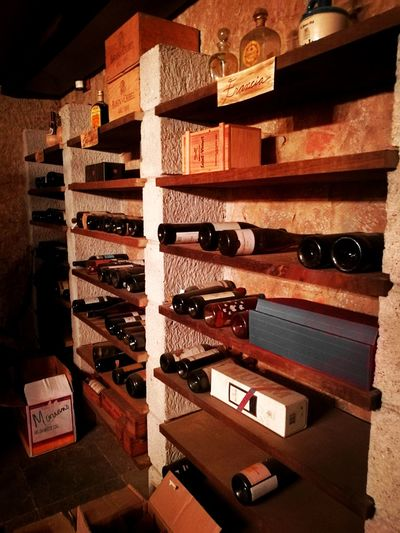 Wine Bottle Viños Variation Indoors  No People Choice Shelf Abundance Arrangement