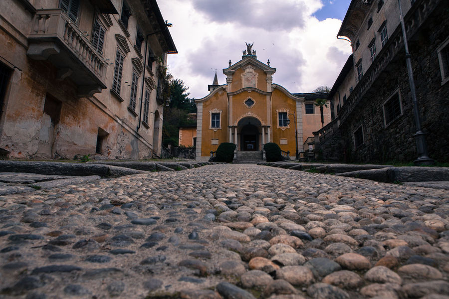 Orta San Giulio, Piedmont, Italy. Views of the old village with its steep cobblestone streets. Church Cobblestone Cobblestone Streets Historic Historical Building History Italy Old Building  Old Town Orta  Orta S.Giulio Orta San Giulio Piedmont Religion Travel