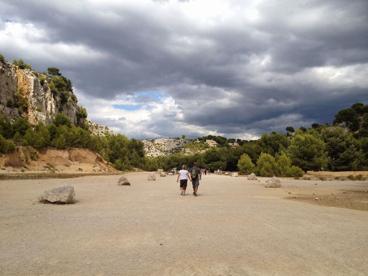 People Cloud - Sky Sand Adults Only Sand Dune Beauty In Nature Two People Full Length Storm Cloud Landscape Marseille, France