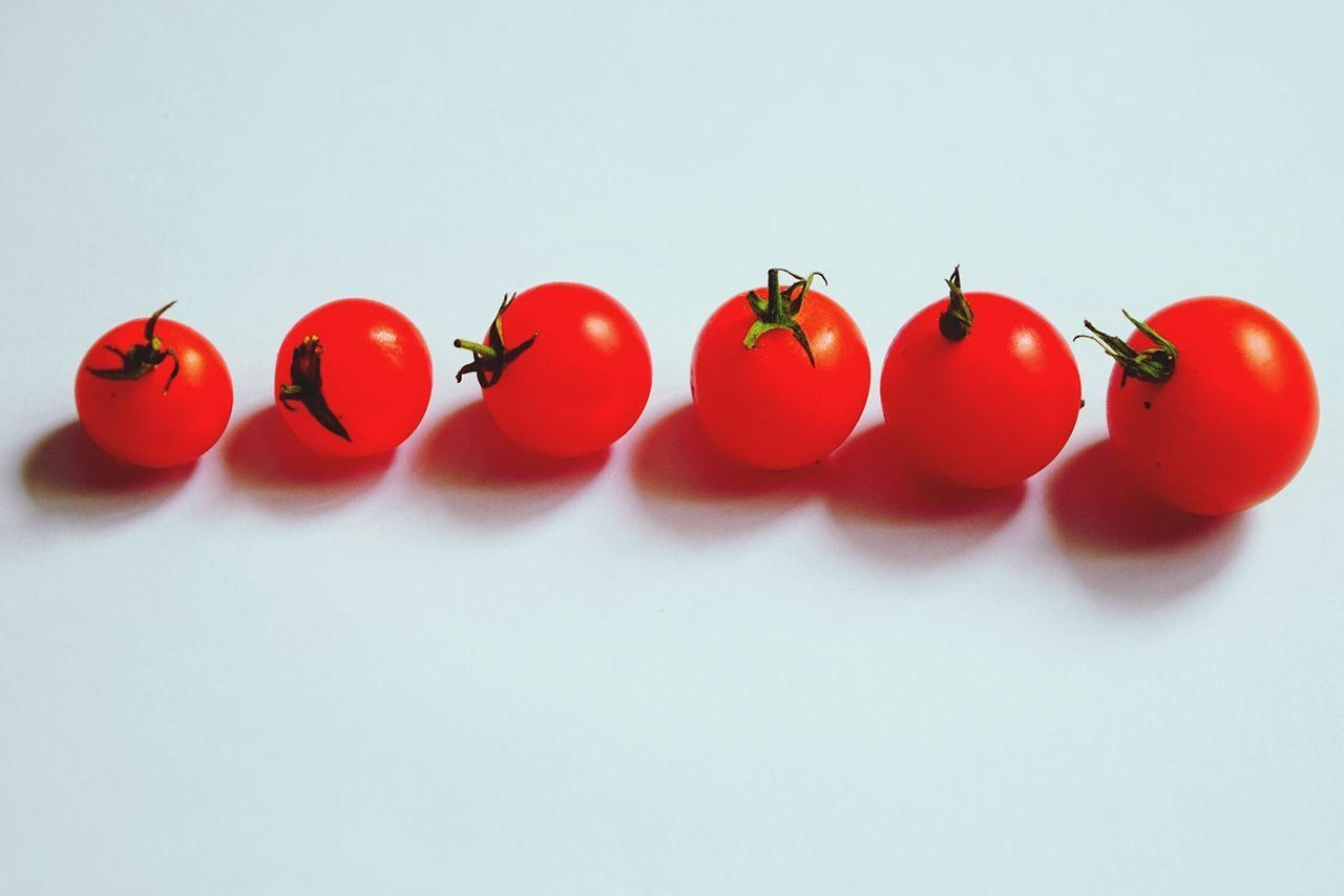 red, white background, food and drink, studio shot, food, tomato, no people, vegetable, healthy eating, close-up, freshness, day