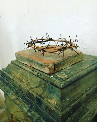 No People Abandoned Indoors  Day Close-up Crown Crown Of Thorns Thorn Church Jesus Passion Pain
