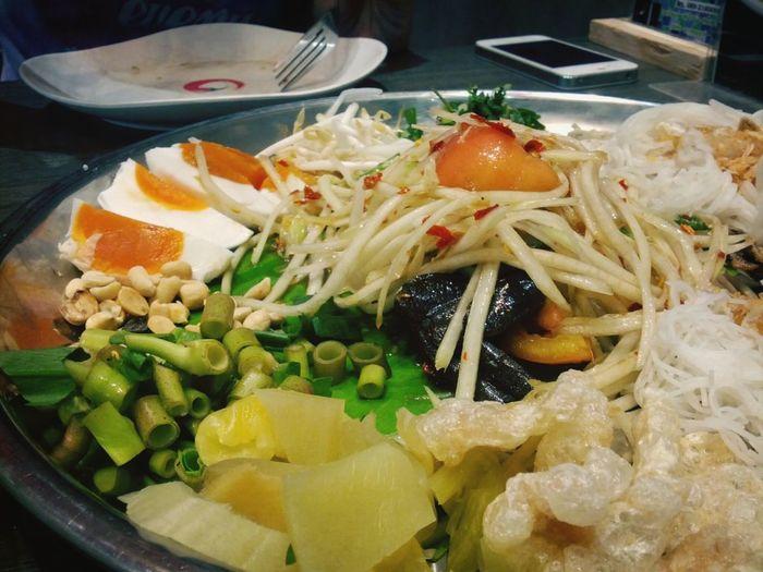Papaya salad from thailand