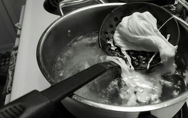 Poaching Eggs Cooking Black And White Monochrome Capture The Moment