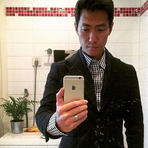 A bathroom selfie. Commedesgarcons PaulSmith Shanghaiwinterlove