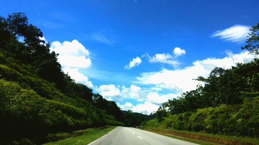 Highway Blue Meets Green