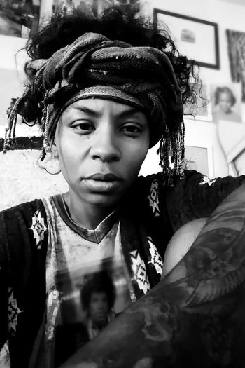 Young Adult Tattooed Tattooedwomen Artistic Expression People Beautiful Woman Hair Headwear Headwraps Melanin Queen Black & White Blurred Background Blackgirlmagic Only Women Blur Effect Seriousface Blackandwhite Photography Black Woman Strong Look Beauty Women One Young Woman Only Headshot Contemplation Young Women