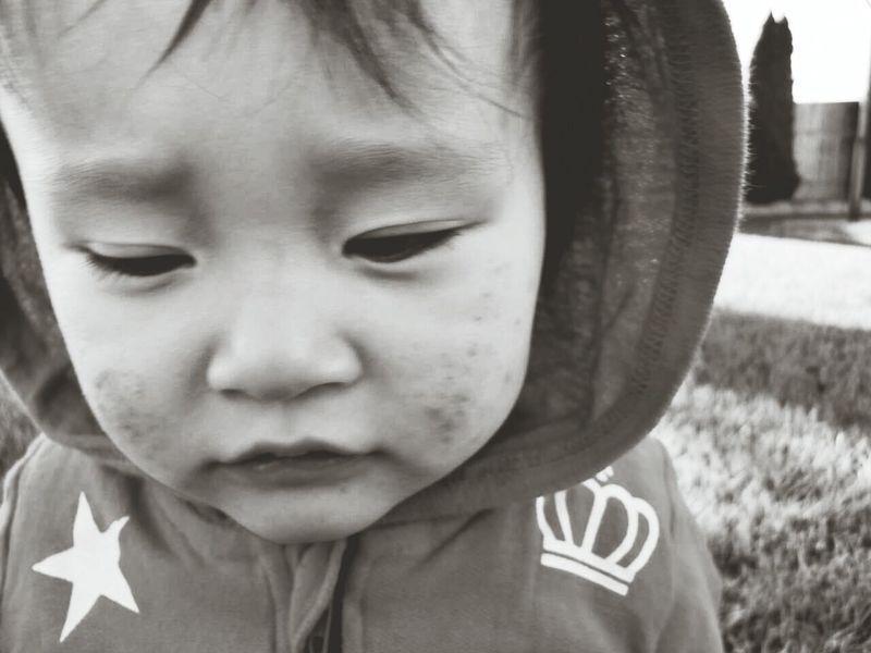 Baby Boy Portrait Monochrome Black And White