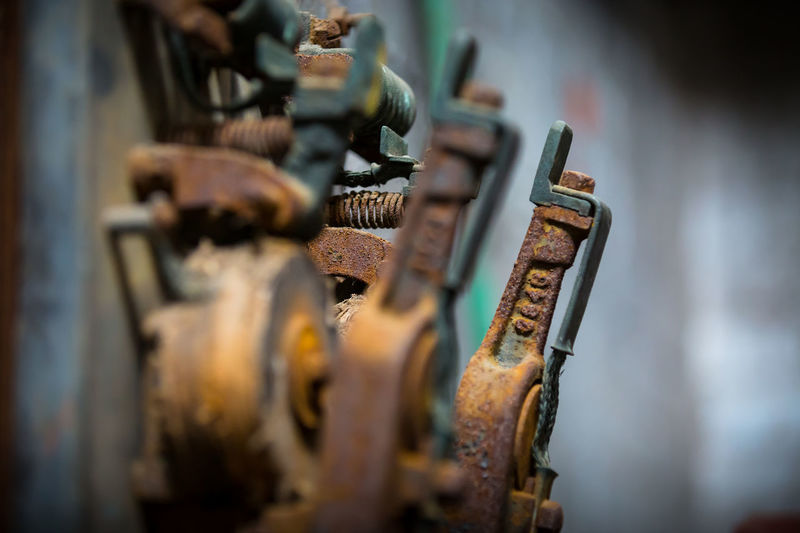 Photo taken at Sloss Furnace - historic landmark in Birmingham Alabama Close-up Coil Colors Creativity Deph Depth Of Field Detail Facility Factory Focus Focus On Background Focus On Foreground Handles Industrial Industry Light And Shadow Metal Metalwork No People Old Old Factory Operational Ornate Rusty Selective Focus Single Object Spring Still Life Textured  Tools Unedited Vintage