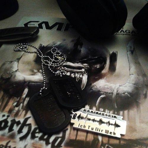 Rammstein. ♥ Dogtags Rammstein Metal New proud oldschool emp headset chain feelings important nice
