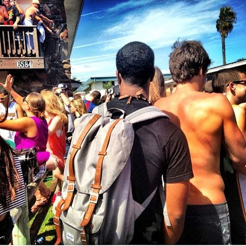 Day Rage!! Deltopia 2013 ive never seen so my people fall off a balcony in one day haha