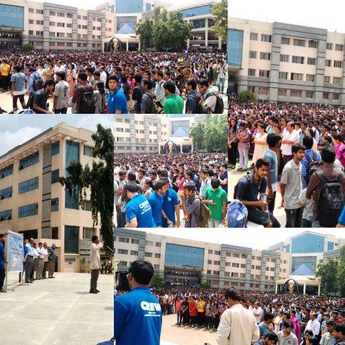 MSRIT College Isro India mangalyanCelebrationVICTORYCLAPCHEERS