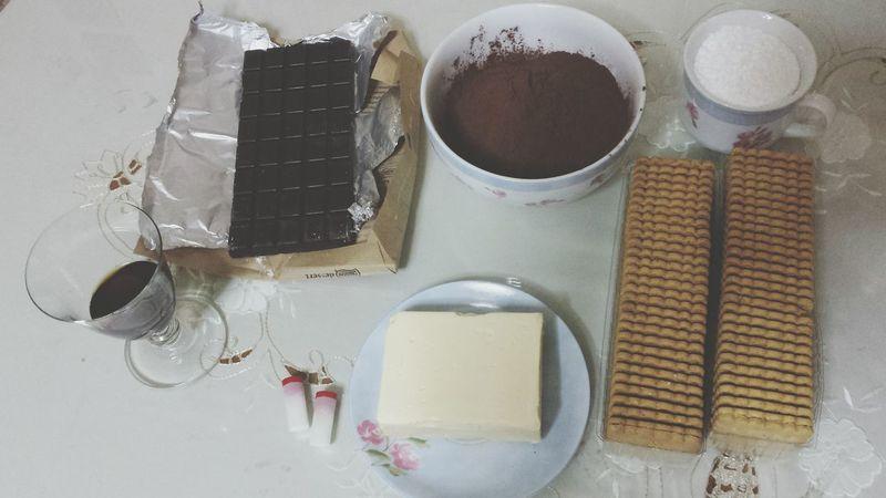 Dark Chocolate Sugar Butter Kakao Liqueur Vanilla Making Sweets In Greece Nafpaktos Cookies