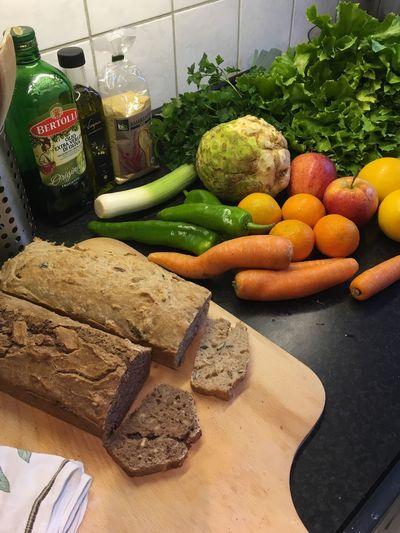 Homebaked bread Fruit Vegan Cooking Kitchen Healthy Food Food Bread Vegan Vegetable