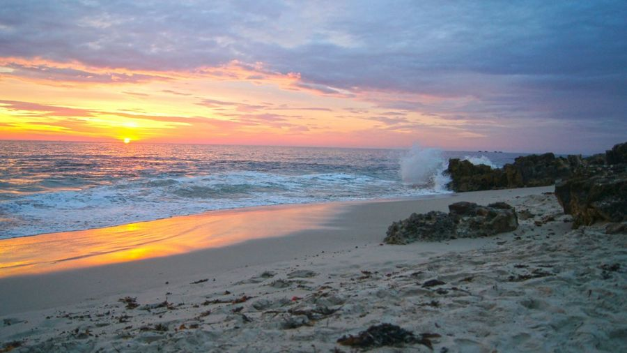 Sunset Beach Beach Life Beach Photography Beach Fireysky Skyporn Sunset_collection Sunset Wave Crash Sea And Sky . Location: Burns Beach Perth Western Australia Australia The KIOMI Collection
