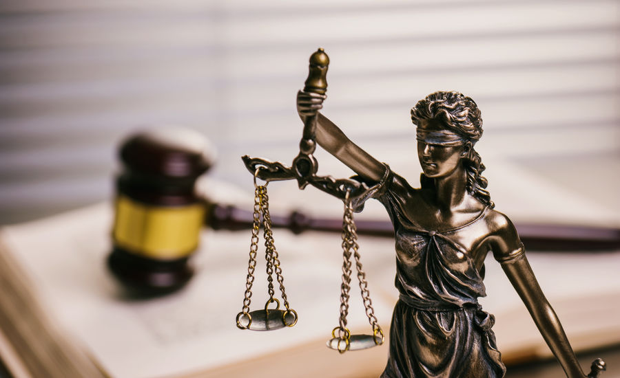 The Statue of Justice - lady justice or Iustitia in a lawyer office with gavel Auction Blind Court Crime Gold Guilty Lady Justice Lady Justice Statue Lawyer Office Scale  Balance Book Courtroom Criminal Gavel Goverment  Innoncent Judge Judgment Judicial Justice Law Legal Punishment