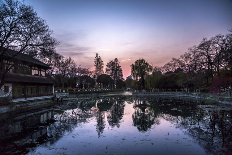 Evening Spring Sunset Twilight Architecture Begonia Flower Day Nature No People Outdoors Reflection Reflection Lake Scenics Sky Spirituality Tourism Travel Travel Destinations Tree Water