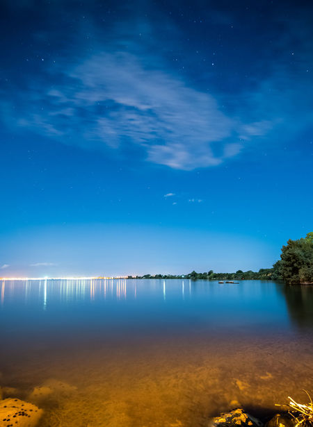 Astronomy Beauty In Nature Blue Constellation Galaxy Lake Nature Night No People Outdoors Reflection Scenics Sky Star - Space Tranquil Scene Tranquility Water