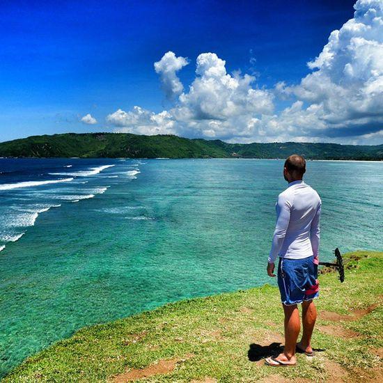 Crossing Lombom Island. Photo by @ondra_hajek EpicView Lombok INDONESIA Traveling the world glidecam shooting gh4 bluesky bluesea hills waves surfing happy instagood selfie love fun life @danielnekvasil